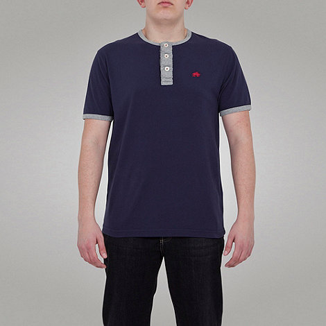 Raging Bull - RB Henley Tee - Navy