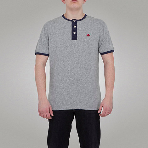 Raging Bull - RB Henley Tee - Grey