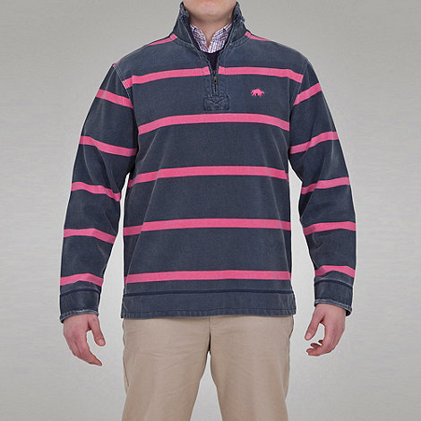 Raging Bull - Thin Stripe 1/4 Zip Top