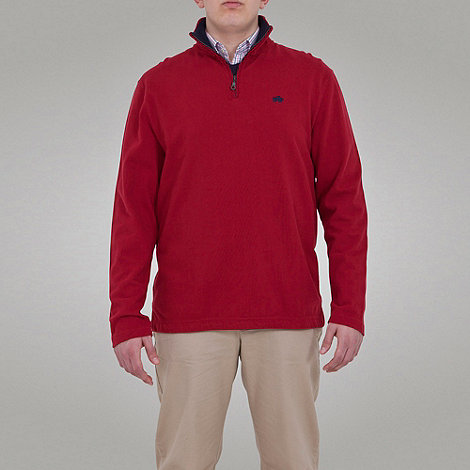 Raging Bull - Peached 1/4 Zip Top - Wine