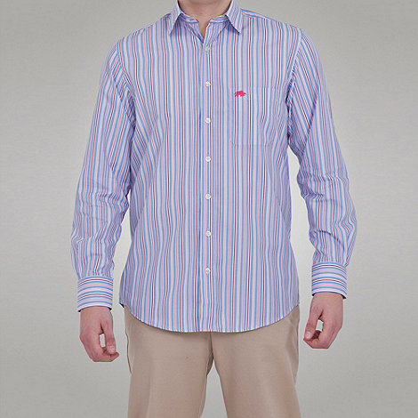 Raging Bull - Long Sleeve Striped Shirt - Pink / Blue