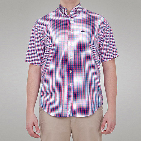 Raging Bull - Fine Check Button Down Collar Shirt