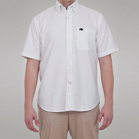 Raging Bull - S/S Oxford Shirt - White