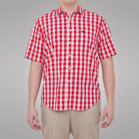 Raging Bull - M Gingham Check Shirt - Wine