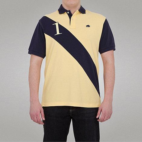 Raging Bull - No1 diagonal stripe polo - lemon