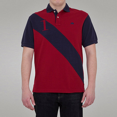 Raging Bull - No1 diagonal stripe polo - wine
