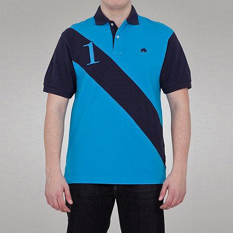 Raging Bull - No1 diagonal stripe polo - electric blue