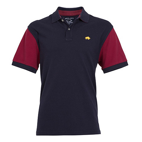 Raging Bull - Contrast sleeve Polo