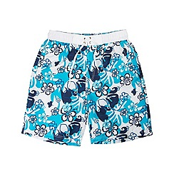 Raging Bull - Blue pattern board short