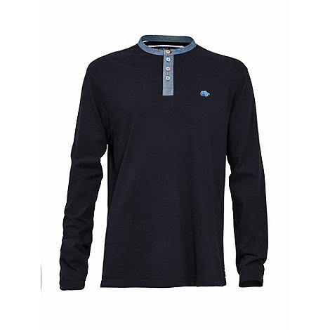 Raging Bull - Long sleeve henley t-shirt