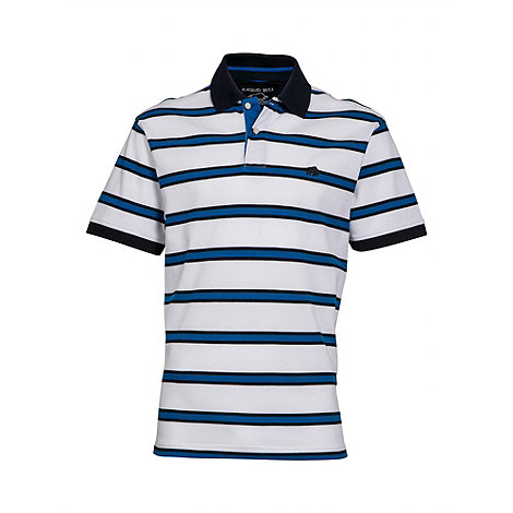 Raging Bull - Multi stripe pique polo