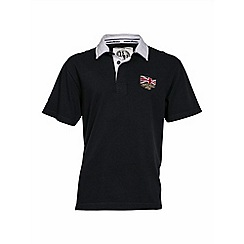 Raging Bull - Navy Union Jack collar rugby