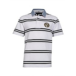 Raging Bull - White double stripe crest rugby