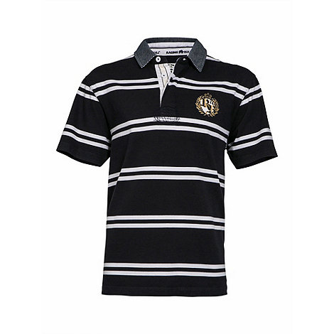 Raging Bull - Navy double stripe crest rugby