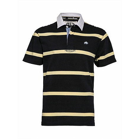 Raging Bull - Navy/yellow stripe rugby