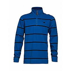 Raging Bull - Cobalt navy stripe quarter zip