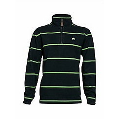 Raging Bull - Navy/lime stripe quarter zip