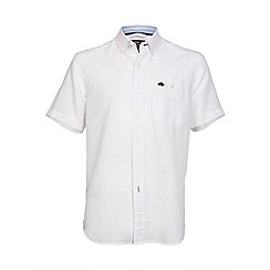 Raging Bull - Short sleeve plain linen shirt