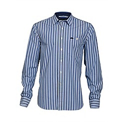 Raging Bull - Long sleeve stripe poplin shirt