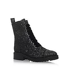 KG Kurt Geiger - Black 'Sparkle' flat boots