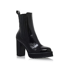 KG Kurt Geiger - Black 'Storm' high heel ankle boots