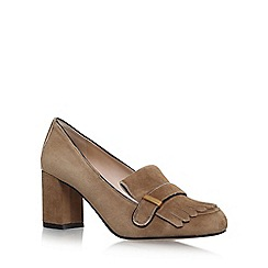 Vince Camuto - Brown 'Triss' high heel loafers