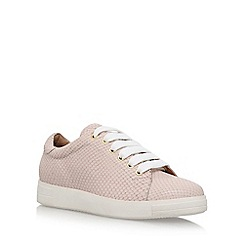 Carvela - Natural 'Jaguar' flat lace up sneakers