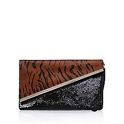 Miss KG - Brown 'Hallie' clutch bag