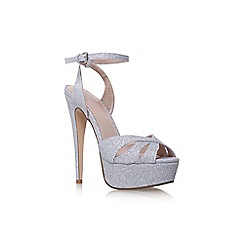 Carvela - Silver 'Layer' high heel sandals