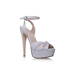 Carvela - Silver 'Layer' high heel sandals