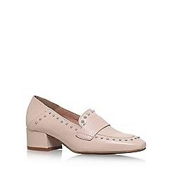 KG Kurt Geiger - Pink Keekee mid heel loafers