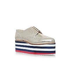 KG Kurt Geiger - Gold klash high heel lace up shoes