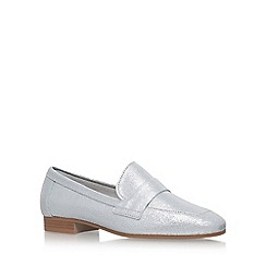 KG Kurt Geiger - Silver 'Keisha' flat slip on loafers