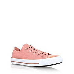 Converse - Pink 'Brush Off Toecap Low' flat lace up sneakers