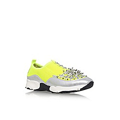 Carvela - Yellow 'Lola' flat slip on sneakers