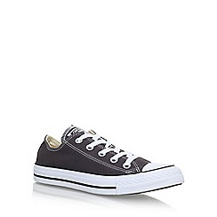 Converse - Grey 'Ct Seas Low' flat lace up sneakers