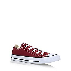 Converse - Red 'Ct Seas Low' flat lace up sneakers