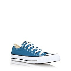 Converse - Blue 'Ct Seas Low' flat lace up sneakers