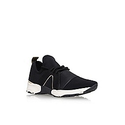 Carvela - Black Lamar flat lace up sneakers