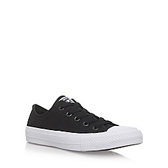 Converse - Black 'Ctas II Low' flat lace up sneakers