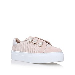 KG Kurt Geiger - Natural 'Orla' flat lace up sneakers