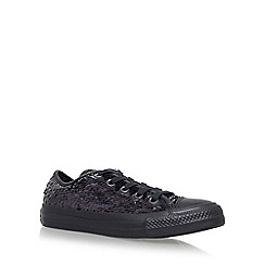 Converse - Black 'Holiday Party Low' flat lace up sneakers