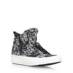 Converse - Black 'Winter Knit Selene' flat lace up sneakers
