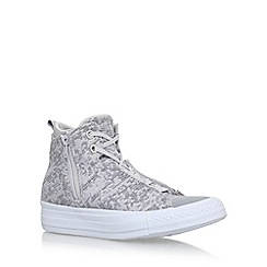Converse - Grey 'Winter Knit Selene' flat lace up sneakers