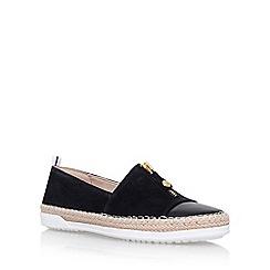 Anne Klein - Black zip down flat slip on sneakers
