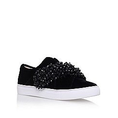 KG Kurt Geiger - Black 'Ocean' flat slip on sneakers