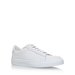 KG Kurt Geiger - White 'Donell' flat lace up sneakers