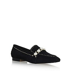 Carvela - Black 'Leighton' flat slip on loafers
