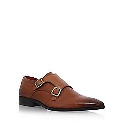 KG Kurt Geiger - Brown 'Brook' flat double monk shoes