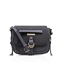 Carvela - Grey 'Orla Saddle' handbag with shoulder strap